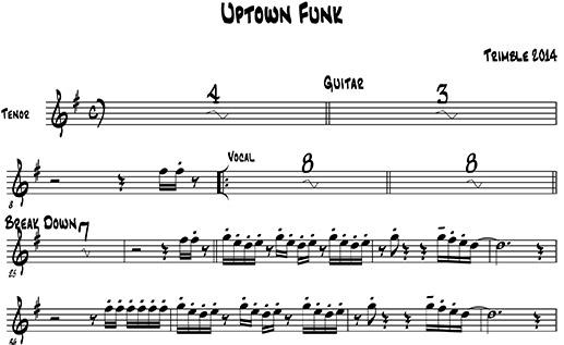 Uptown Funk – Mark Ronson/Bruno Mars | Top 40 Horn Charts